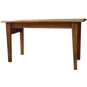 テーブル 自然木そのまま アンティークブラウン w120d49h63cm ロング 木製 ひのき 受注製作|angelsdust