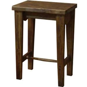 木製角型スツール(高さ50cm)椅子 (アンティークブラウン) 受注製作|angelsdust