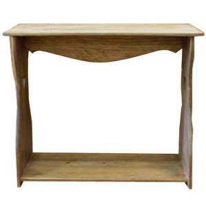 ベンチシェルフ 置き型 アンティークブラウン w53d25h44cm カントリーハート 木製 ひのき 受注製作|angelsdust