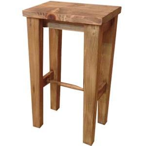 木製角型スツール(高さ60cm) 椅子(アンティークブラウン) 受注製作|angelsdust
