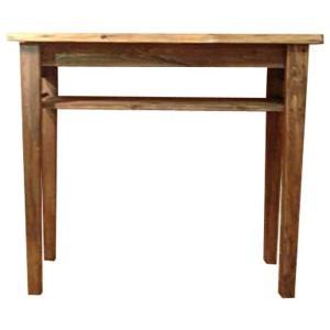 カウンターテーブル アンティークブラウン w102d40h90cm 棚板高め 木製 ひのき 受注製作|angelsdust