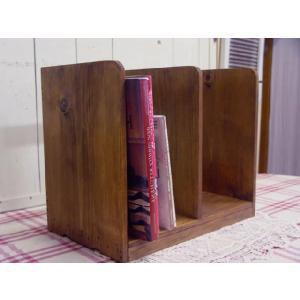 木製ブックスタンド(幅40センチ)本棚 (アンティークブラウン) 受注製作|angelsdust