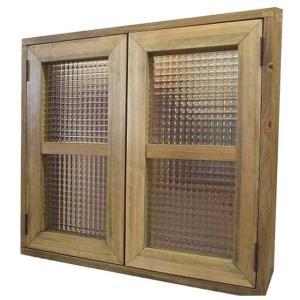 カフェ窓 室内窓 採光窓 木製ひのき フランス製チェッカーガラス扉 マグネット仕様(60×55cm扉厚み3cm)アンティークブラウン 受注製作|angelsdust