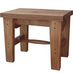 木製角型スツール(高さ30cm)椅子(アンティークブラウン) 受注製作|angelsdust