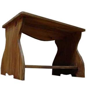 テーブル ミニサイズ  アンティークブラウン w54d38h37cm 棚つき ちゃぶ台 木製 ひのき 受注製作|angelsdust