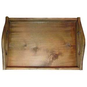 トレイ スクエア型 アンティークブラウン w37d25h9cm おぼん ウッドトレイ 木製 ひのき 受注製作|angelsdust