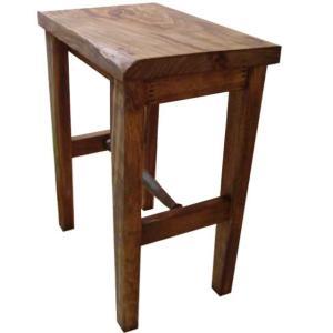 木製角型スツール(高さ44cm)椅子 (アンティークブラウン) 受注製作|angelsdust