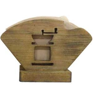コーヒーフィルターケース コーヒーペーパーケース アンティークブラウン w18d8h12cm コーヒーミルくりぬき 木製 ひのき 受注製作|angelsdust