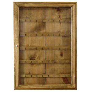 コレクションケース 木製ひのき ブルボンキーホルダー用 透明ガラス扉 壁掛けディスプレイケース ショーケース 50×7×70cm アンティークブラウン 受注製作|angelsdust