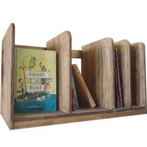 ブックスタンド 木製 ひのき(幅60センチ)仕切り板3枚タイプ 本棚 アンティークブラウン 受注製作|angelsdust