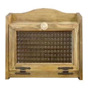 ブレッドケース チェッカーガラス扉 w30d21h26cm アンティークブラウン ミディアムサイズ パンプキンノブ ひのき 木製 受注製作|angelsdust