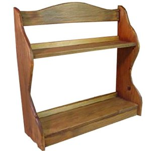 スパイスラック 木製ひのき アンティーク調家具 収納棚 二段ラック キッチン収納 42×14×44cm アンティークブラウン 受注製作|angelsdust