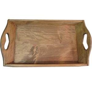 トレイ 深型 w45d25h10cm アンティークブラウン ハート 大きめ ウッドトレイ 木製 ひのき 受注製作|angelsdust