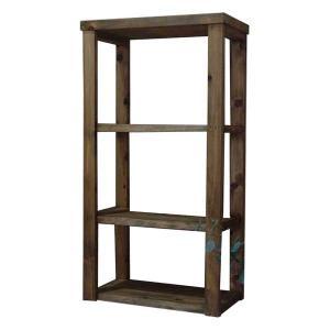 三段ラック 背板なし アンティークブラウン w45d24h84cm 3段 木製 ひのき 受注製作|angelsdust