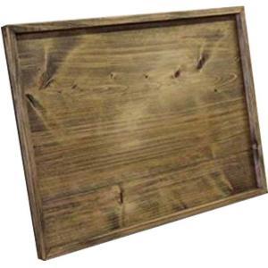 トレイ 平たい 薄型  アンティークブラウン w45d32h2.5cm(深さ1cm)スクエア型  トレー 木製 ひのき 受注製作|angelsdust