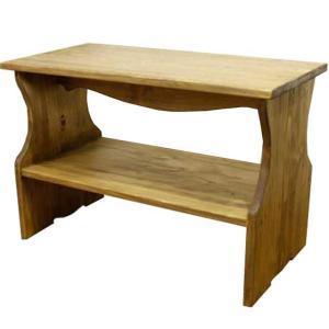ベンチシェルフ アンティークブラウン w60d30h40cm 棚付き 木製 ひのき 受注製作|angelsdust
