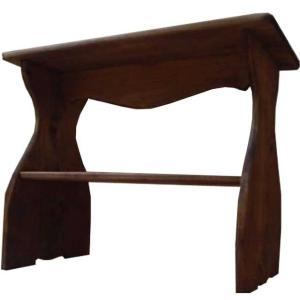 シェルフ ベンチタイプ アンティークブラウン w46d25h36cm 木製 置き型 下段収納 木製 ひのき 受注製作|angelsdust