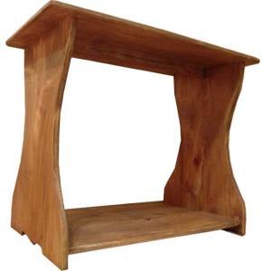 シェルフ ベンチタイプ アンティークブラウン w46d25h36cm ミニサイズ 置き型 木製 ひのき  受注製作|angelsdust
