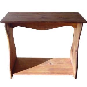シェルフ ベンチタイプ アンティークブラウン w53d25h44cm 置き型 木製 ひのき 受注製作|angelsdust