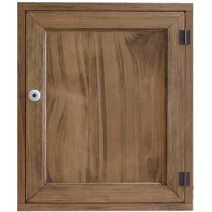 トイレットペーパーラック 背板なし アンティークブラウン w38d14h46cm  木製扉 木製 ひのき 受注製作|angelsdust