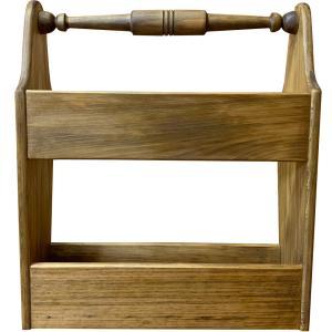 アンティークブラウン 木製マガジンラック スリッパラックにも 受注製作|angelsdust