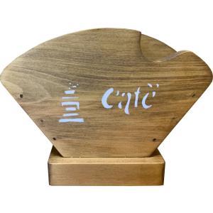 コーヒーフィルターケース シンプル アンティークブラウン w18d8h12cm ミル&cafe&コーヒー豆ステンシル コーヒーペーパーケース 木製 ひのき 受注製作|angelsdust
