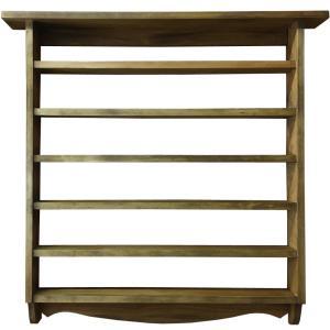 木製コレクションシェルフ(53×8×53cm) (アンティークブラウン) 受注製作|angelsdust