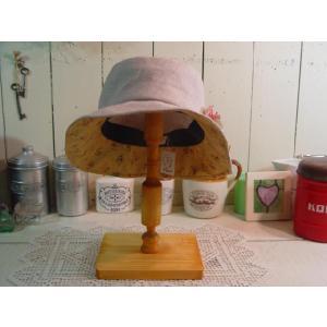 ナチュラル 木製帽子スタンド:M つばの小さな帽子に 受注製作|angelsdust