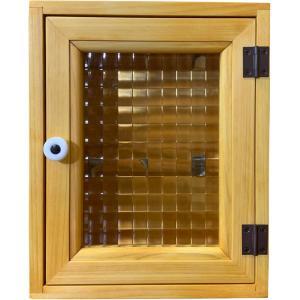 フランス製チェッカーガラスのキーボックス(角型タイプ) (ナチュラル) 受注製作|angelsdust