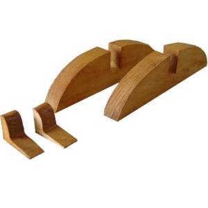 くさび付きフレームスタンド2個セット直立タイプ(ガラスフレーム・黒板・木製ボード・ステンドグラス脚) (ナチュラル) 受注製作|angelsdust