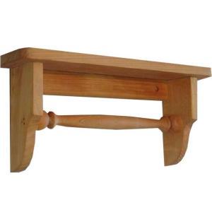 木製タオルハンガーミニミニシェルフ 半折タイプ (ナチュラル) 受注製作|angelsdust