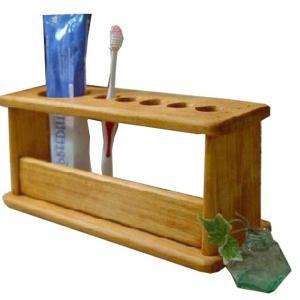 木製歯ブラシスタンド 5本収納ハブラシホルダー (ナチュラル) 受注製作|angelsdust