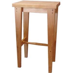 木製角型スツール(高さ60cm)椅子 (ナチュラル) 受注製作|angelsdust
