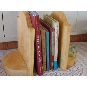 ブックエンド 木製 ひのき 本棚 ブックスタンド2個セット(ナチュラル)受注製作|angelsdust