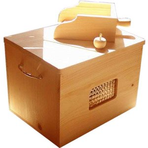 徳島県神山町産ひのきのカンナチップ3kg&専用木製ボックス&スコップセット ナチュラル 受注製作|angelsdust