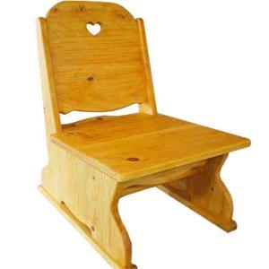 ローチェア ハートくり抜き ナチュラル w35d41h49cm こたつ用座椅子 木製 ひのき 受注製作|angelsdust