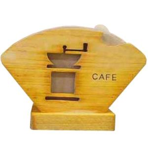 コーヒーフィルターケース バーニングロゴ入り ナチュラル w18d8h12cm コーヒーミルくりぬき コーヒーペーパーケース ひのき 木製 受注製作|angelsdust