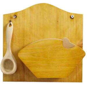 コーヒーフィルターケース 計量スプーンセット ナチュラル w22d6.5h22cm 壁掛け コーヒーペーパーケース 木製 ひのき 受注製作|angelsdust