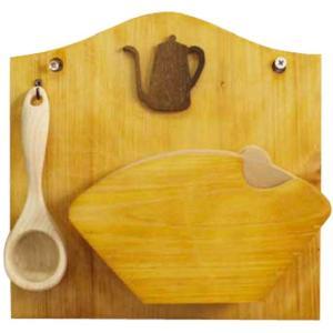 コーヒーフィルターケース 計量スプーンセット ナチュラル w22d6.5h22cm 壁掛け ポット コーヒーペーパーケース 木製 ひのき 受注製作|angelsdust