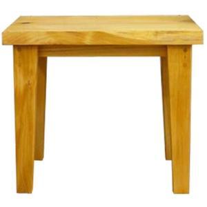 角スツール 木製ひのき 耳つき 自然木スツール STOOL 角型椅子 サポートチェア 46×32×40cm カントリースツール ナチュラル 受注製作|angelsdust