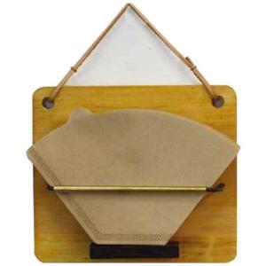 コーヒーフィルターホルダー アイアンバー真鍮パイプ ナチュラル w15.5d3.5h13.5cm 壁掛け 木製 ひのき 受注製作|angelsdust