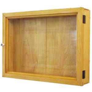 ディスプレイケース 壁掛け ナチュラル w42d7h30cm 透明ガラス 木製 ひのき 受注製作|angelsdust