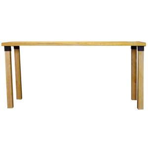 カウンターテーブル アイアンレッグジョイント ナチュラル w150d50h70cm 組み立て式 木製 ひのき 受注製作|angelsdust
