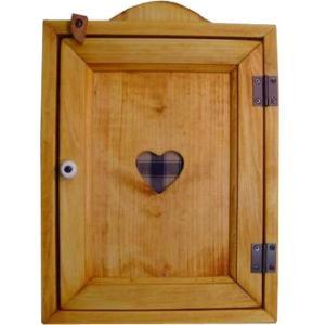 キーボックス ナチュラル 木製ハート 壁掛けキーケース カントリーブルー 受注製作|angelsdust