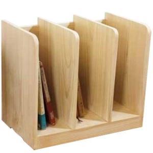 ブックスタンド 木製 ひのき ライトオーク 40×25×34cm 仕切り板2枚タイプ 本棚 本立て 受注製作|angelsdust