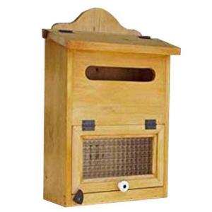 ポスト縦型 木製 ひのき 角2封筒がキチンと入るフランス製チェッカーガラス扉の木製縦型ポスト 郵便受け ナチュラル 受注製作|angelsdust