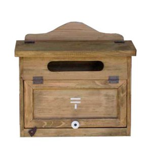 ポスト横型 木製ひのき 郵便マークステンシル カントリーMAIL BOX 郵便受け アンティークブラウン 受注製作|angelsdust