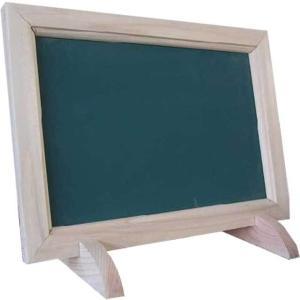 無塗装白木 ひのきの黒板(グリーンボード) メッセージボード&フレームフタンド(傾斜タイプ)受注製作|angelsdust