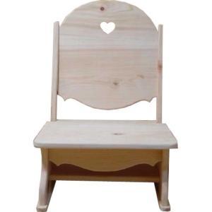 フロアチェアー こたつ用座椅子 無塗装白木 w41d44h59cm ハート 木製 ひのき 受注製作|angelsdust