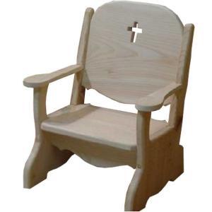 キッズチェア クロスくり抜き 無塗装白木 w34d29h42cm 子供用椅子 木製 ひのき 受注製作|angelsdust